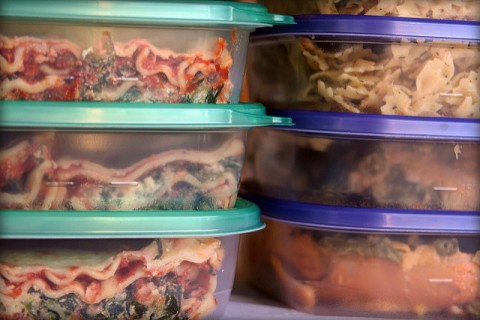 Make extra food and store in the freezer to save money on groceries