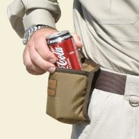 My favorite in the world of can koozies is this all-terrain hands free can holder