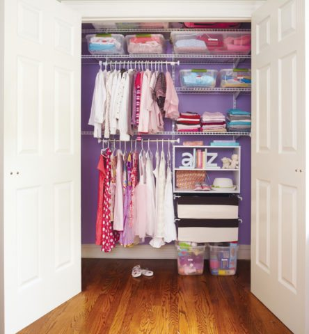 back to school closet