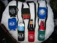 hands free beer bottle koozies with neck holders
