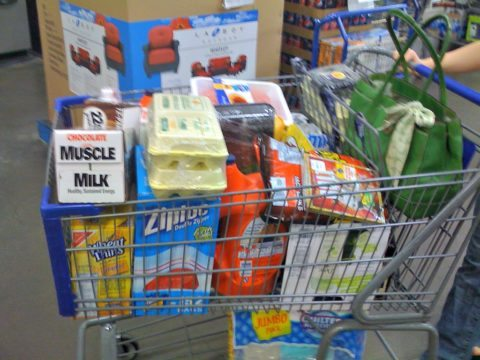 bulk shopping at sams wholesale club