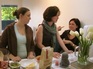 Simple refreshments at a clothing swap party. photo by Carolyn Coles on Flickr
