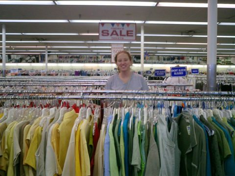 Here's how to buy an entire wardrobe at Goodwill.