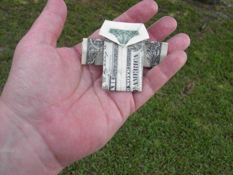 how-to-fold-money
