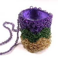 You can order personalized koozies for special occasions like Mardi Gras
