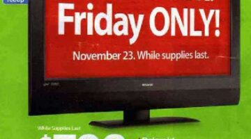 Great Deals On 42-inch Widescreen TVs At Black Friday Sales Events