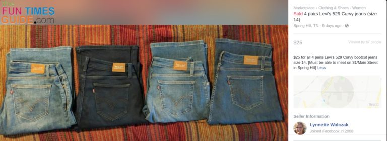 This is how I sell several pairs of the same style jeans -- as a set.